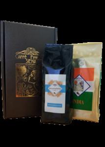 Gift box con 2 pacchi di caffè a scelta da 500gr.